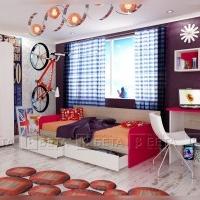 Модулни мебели за юношеска стая.